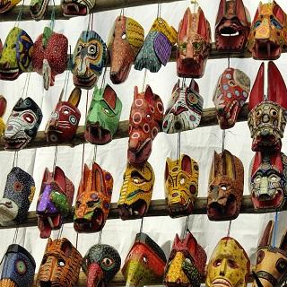 guatemala-market - masks