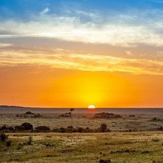 קניה - שקיעה בסוואנה